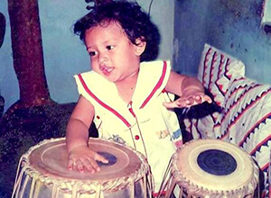 Toddler Sweekar Katti on Tabla