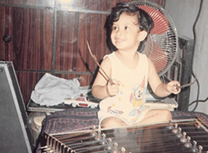 Toddler Sweekar Playing Santoor
